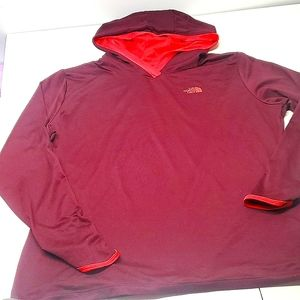 The North Face Burgundy & Red Long Sleeve Tee
